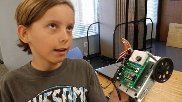 Chase at robotics camp